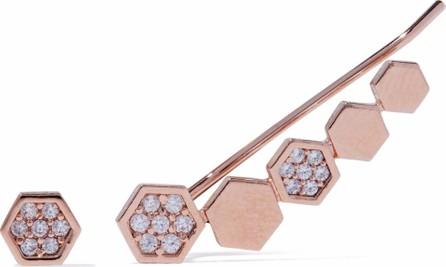 Astrid & Miyu 18-karat rose gold-plated crystal earrings