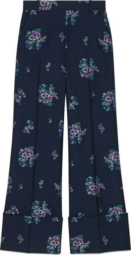 Gucci Flowers fil coupé cotton wool pant