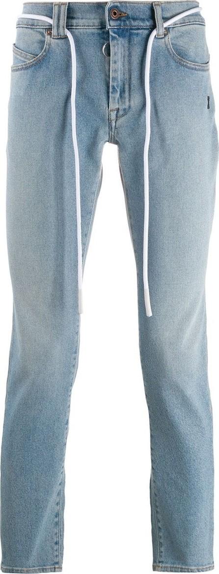 Off White Slim fit string belt jeans