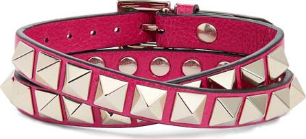 Valentino GARAVANI No Limit Rockstud Leather Wrap Bracelet