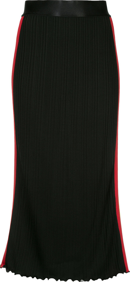 Ellery Side striped fitted skirt