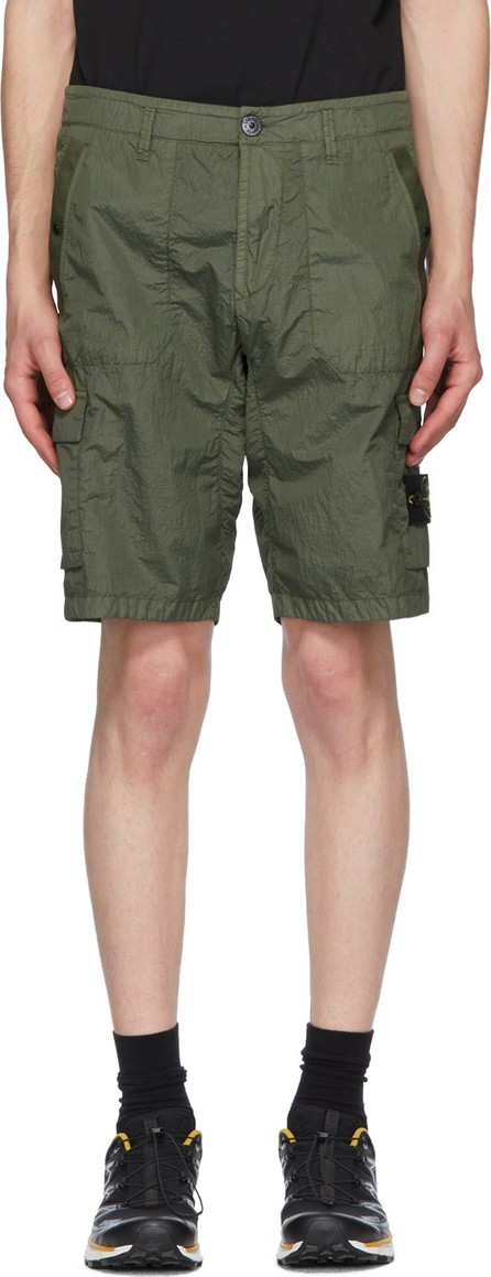 Stone Island Green Nylon Metal Shorts