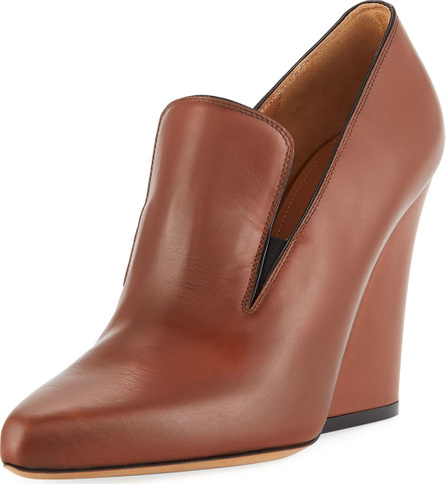 Dries Van Noten Flare High-Heel Leather Loafer Pump