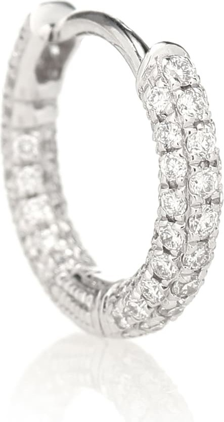 Maria Tash 18kt white-gold single earring with diamonds