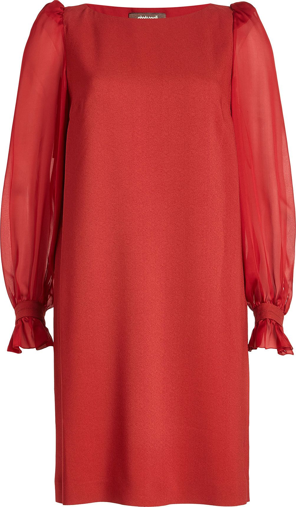 Roberto Cavalli - Dress with Sheer Sleeves