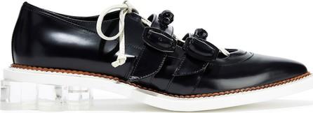 Simone Rocha Bead-embellished glossed-leather pumps