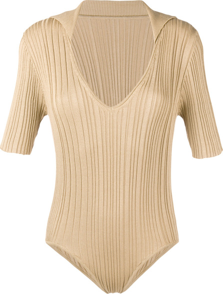 Jacquemus Ribbed knit plunge neck body