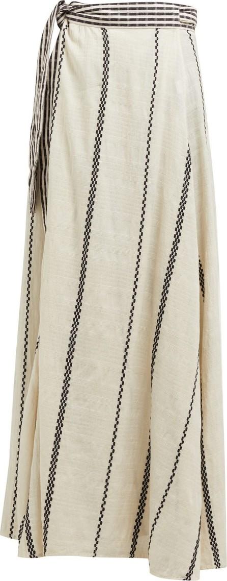 ace&jig Sangria striped cotton wrap skirt