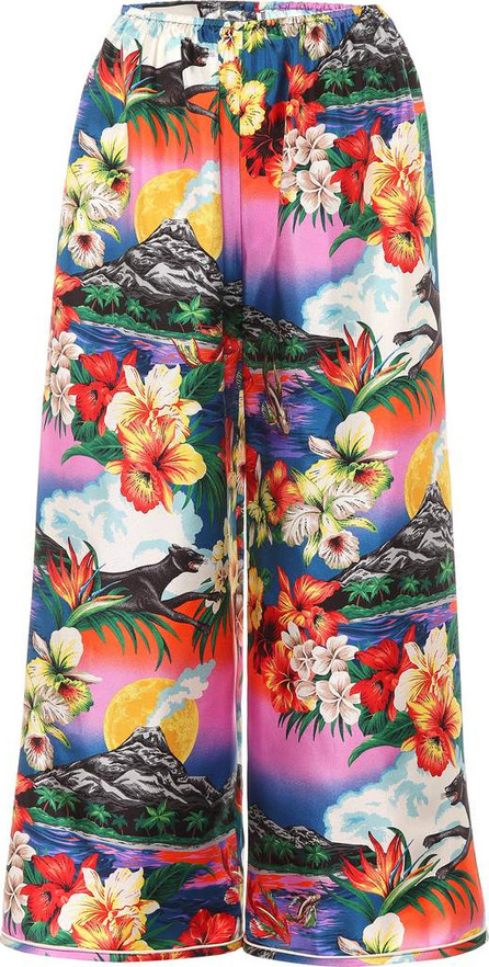 Gucci Hawaiian silk wide-leg trousers