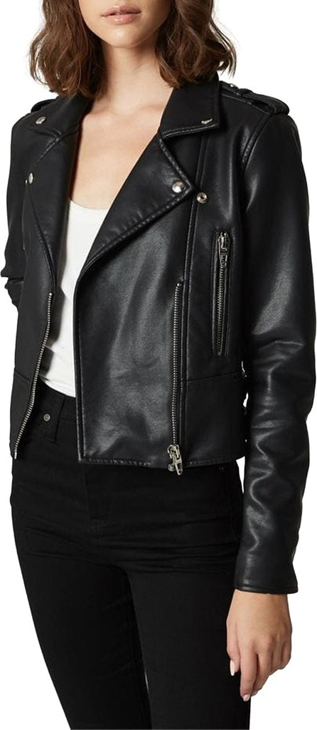 BLANKNYC It Takes Two Vegan Leather Moto Jacket