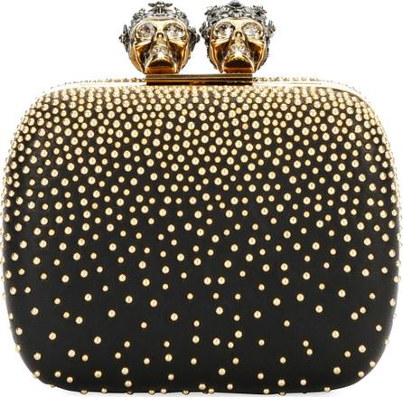 Alexander McQueen Queen & King Skull Mini Box Clutch Bag