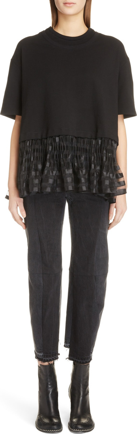 J.W.Anderson Pleated Hem Crop Top