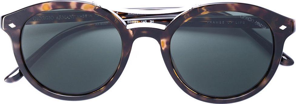 Giorgio Armani - tortoiseshell round frame sunglasses
