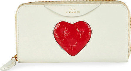 Anya Hindmarch Large Chubby Heart Zip-Around Wallet