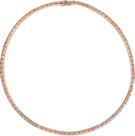 Anita Ko 18k Rose Gold Australian Diamond Link Choker Necklace