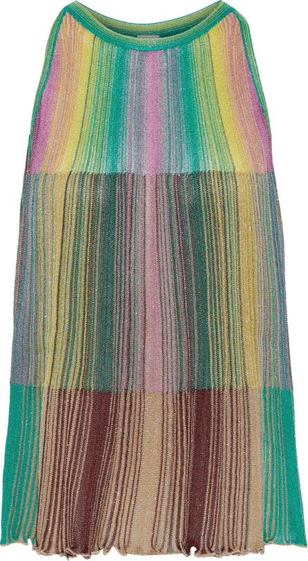 M Missoni Metallic striped crochet-knit top