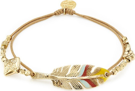 GAS Bijoux Penna 24kt Gold-Plated Feather Bracelet
