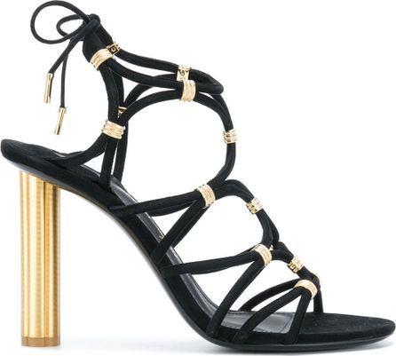Salvatore Ferragamo Metallic strappy sandals
