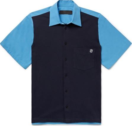 Stella McCartney Rodney Logo-Embroidered Organic Cotton-Piqué and Poplin Shirt