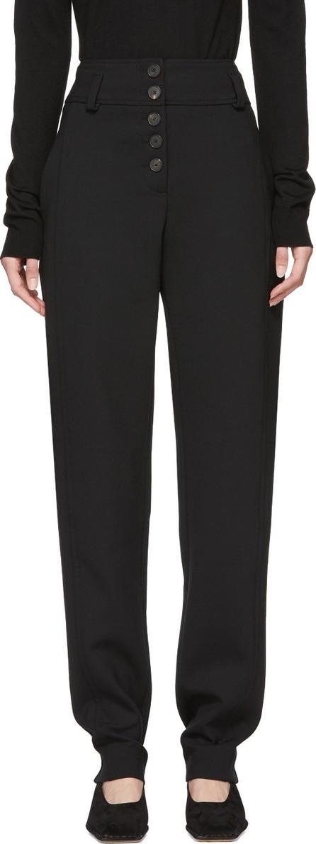 Carven Black Button Trousers