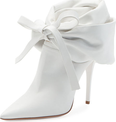 Miu Miu Fold-Down Leather Bootie