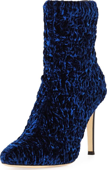 Giuseppe Zanotti Textured Stretch Velvet Booties