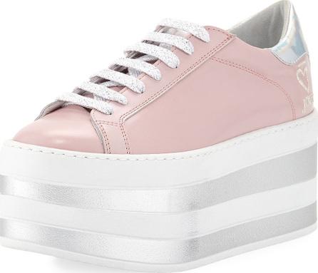O Jour Lace-Up Patent Platform Sneaker