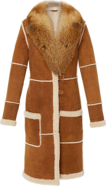 A.L.C. Beretta Fur-Trimmed Shearling Coat