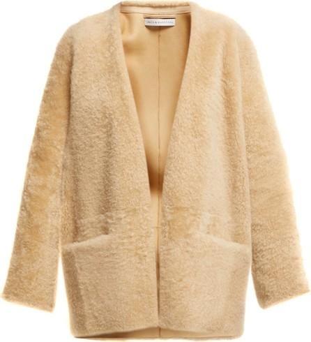 Inès & Maréchal Egypte collarless shearling coat