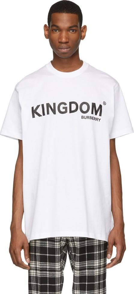 Burberry London England White 'Kingdom' T-Shirt