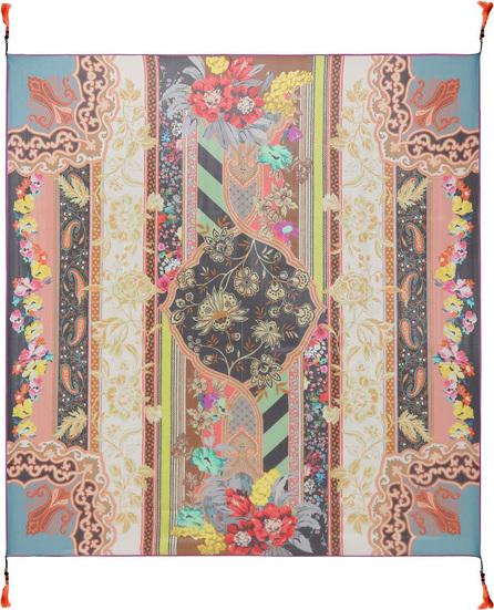 Etro Bead-embellished silk scarf