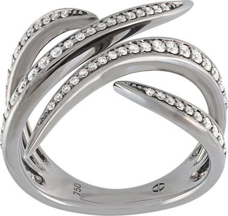Gisele For Eshvi 18kt white gold ring with black rhodium plate