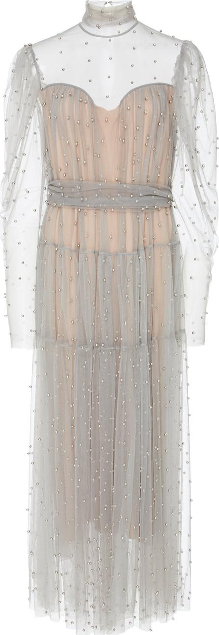 Alena Akhmadullina Embroidered Silk Midi Dress