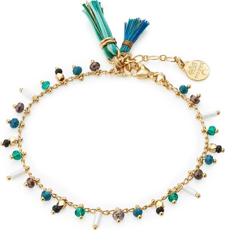 GAS Bijoux Gipsy 24kt Gold-Plated Bracelet with Glass Beads