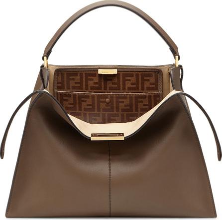 Fendi Peekaboo X-Lite Soft Calf Satchel Bag with FF Interior