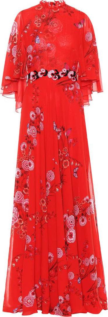 Giambattista Valli Floral-printed silk gown