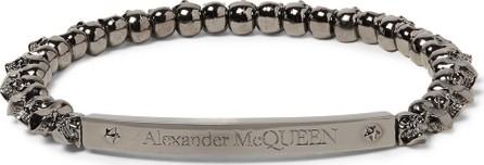 Alexander McQueen Gunmetal-Tone Skull Bracelet