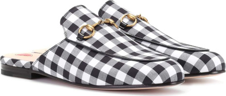 Gucci Princetown check slippers