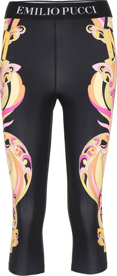 Emilio Pucci Printed cropped leggings