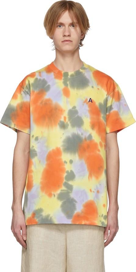 Ambush SSENSE Exclusive Yellow 'A' Waves Tie-Dye T-Shirt