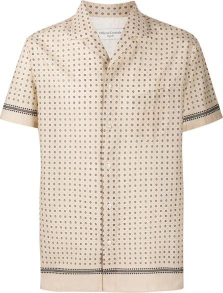 Officine Générale Geometric-print short-sleeved shirt