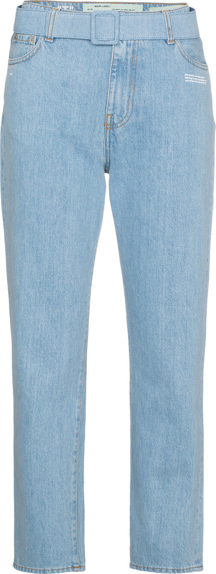 Off White Mid rise denim cropped jeans