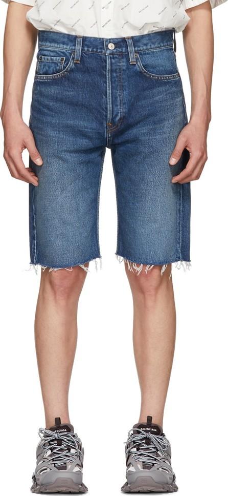 Balenciaga Blue Japanese Denim Shorts
