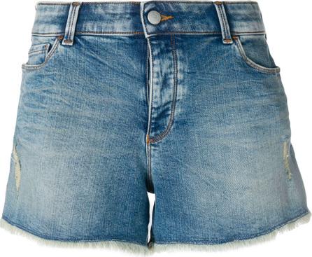 Emporio Armani Cut off denim shorts