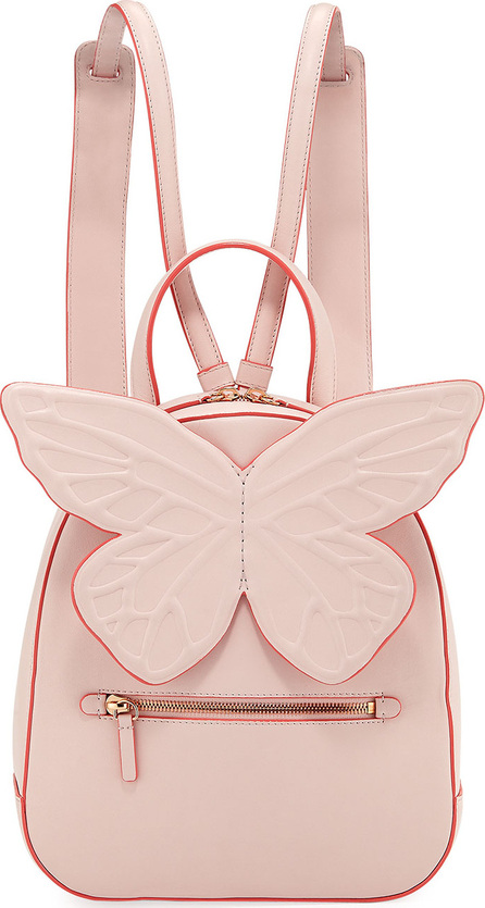 Sophia Webster Kiko Leather Butterfly Backpack, Pink