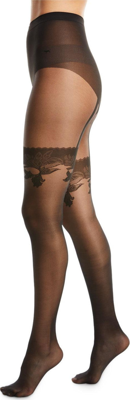 Wolford Allure Faux-Thigh High Tights