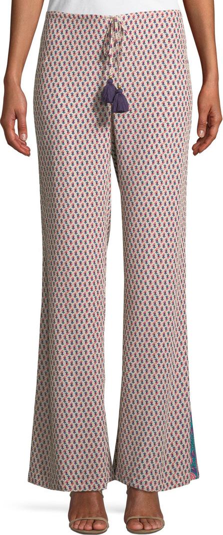 FIGUE Estela Khalo Floral-Print Wide-Leg Silk Pants