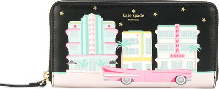 Kate Spade New York Printed zip around continental wallet