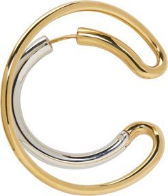 Charlotte Chesnais Gold & Silver Single Large Ego Earring