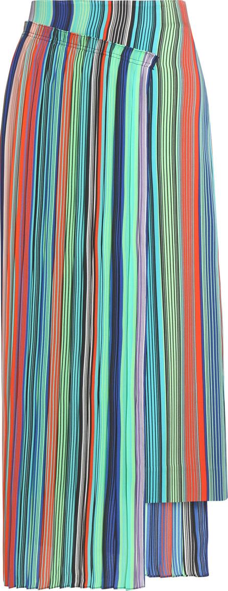 DIANE von FURSTENBERG Wrap-effect striped crepe midi skirt